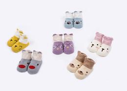Medias de panda online-Calcetines para bebés de algodón infantil del niño lindo calcetines cortos de dibujos animados de los niños Panda Fox Animal Medias Niños longitud de la rodilla piso tobillo Medias BY0073