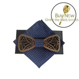 2019 grossistes cravates pour hommes bowties Classique Original Bois Élégant Gentleman Marié Noeud Papillon À La Main Papillon Noeud papillon De Noce Papillon Cravate Unique En Bois