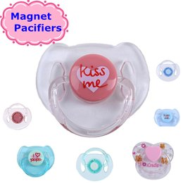 Wholesale Nipple Fittings - 10pcs lot Magnet Pacifiers for Bebe Reborn Dolls Pacifiers Nipples Magnetic Dummy Fit For Newborn Babies Doll With Magnet Mouth