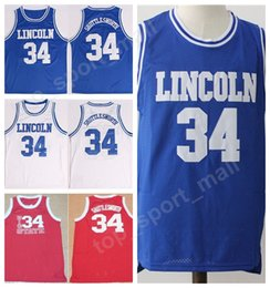 Wholesale Uconn Basketball - Lincoln 34 Jesus Shuttlesworth Jersey Men Uconn Connecticut Huskies Movie Big State He Got Game Basketball Jerseys Shuttlesworth Uniform