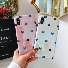 Wholesale cover phone korean style - New Arrive Cute kitty Korean Style Fashion Blu-ray Soft Cover TPU Phone Cases For iPhone X 8 7 6 Plus