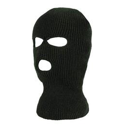 máscara facial Desconto Balaclava de malha Ao Ar Livre Cobertura Completa Rosto Máscara de Esqui Pescoço Chapéu Mais Quente 300 Pcs