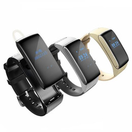 Wholesale Bluetooth Bracelet Headset - DF22 Business and Sports Bracelet Bluetooth Smart Watch Hot HiFi Sound Headset Digital Wrist Calories Pedometer For IOS Android Smart Phone