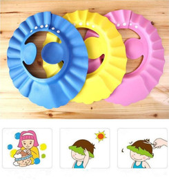 Wholesale winter baby showers - Soft Baby Children Shampoo Bath Shower Cap Kids Bathing Cap Bath Visor Adjustable Hat Wash Hair Shield with Ear Shield Hats B11