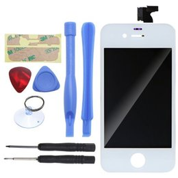 Wholesale iphone 4s black screen - Sinbeda High Quality For iPhone 4 4G 4S LCD Display and touch screen digitizer complete assembly Black or White Free DHL Ship