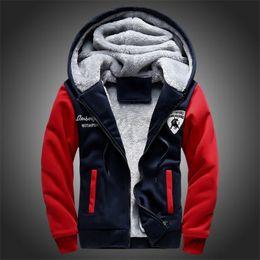 Wholesale Fleece Overalls - New Fashion Fleece Hoodies Men Winter Casual Men's Jackets Black Patchwork Men Coats Men's Overalls Plus Size M-5XL Free Shipping