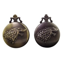 Wholesale Cool Pocket Watches - Cindiry New Arrival Antique Steampunk Cool Animal Head Design Pocket Watch with Long Chain Unique Gifts Unisex Fob Clock P10