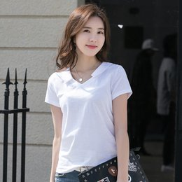 chemises en coton peigné Promotion Nouveau été femmes chemises à manches courtes petit revers solide 3 couleurs coton peigné