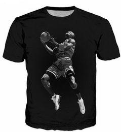 New Fashion 3D Print T-Shirts Uomo / Donna Unisex Anime Cavaliers star James Funny Casual Tee Top all'ingrosso QA107 da
