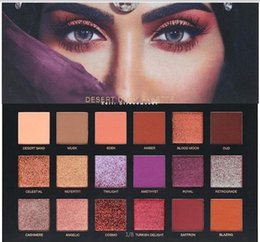 Wholesale gold palette - A5 Free Shipping by ePacket 18 Colors Eyeshadow Palette Rose Gold Textured Palette Makeup Eye shadow Beauty Palette Matte Shimmer with Gifts