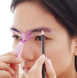 Wholesale eye make up stencil - Wholesale Eyebrow Stencils Shaping Grooming Eye Brow Make Up Model Template Reusable Design Eyebrows Styling Tool
