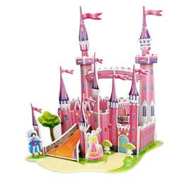Wholesale Military Toys For Kids - 3D DIY Castle Puzzle Jigsaw Baby Toy Kid Early Learning Construction Pattern Gift For Children Brinquedo Educativo Houses Puzzle