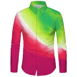 8d051348756 Discount new designs mens winter clothes - Cloudstyle Mens New Shirt radian  Design 3D Red Green