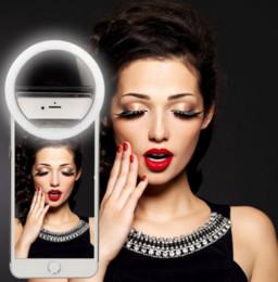 funda de iphone de luz led intermitente Rebajas Venta caliente LED Selfie Ring Light para iPhone para Xiaomi para Samsung Huawei cámara de flash portátil cubierta de la caja del teléfono fotografía mejora