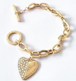 Canada M sérieHeart Diamond Bracelet pour hommes et femmes en trois couleurs Offre