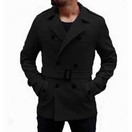 cappotto caldo britannico Sconti Warm Winter Fashion Trench da uomo Cappotti lunghi Cappotto di lana Colletto rovesciato Slim Fit Giacche doppiopetto Cappotto britannico Hombre