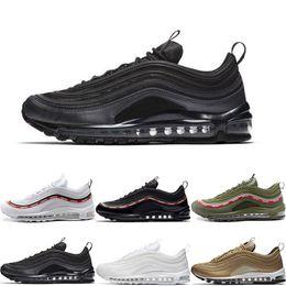 f71460b2fbfb Best Quality 97 OG QS Tripel Black White Metallic Gold Silver Bullet White  3M Premium Running Shoes For Men Women Athletic Shoes Sneakers