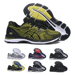 Wholesale training shoes for women - 2018 Asics GEL-Nimbus 20 Men Cushioning Running Shoes Top Quality Training Lightweight For Sale Online Sneakers Basketball Shoes