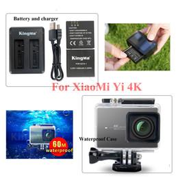 Ccessories telefon Orijinal KingMa Xiaomi Yi 4 K 2 BatteryCharger + 60 M Dalış Su Geçirmez Konut Case XiaoYi II Spor Eylem Kamera Acc ... nereden dizüstü bilgisayarlar için sabit diskler tedarikçiler
