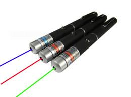 Wholesale Purple Laser Pen - D14*155mm 5MW Red blue Purple Laser Pen Laser Pointer Pen For SOS Mounting Night Hunting teaching Opp Package 100pcs lot