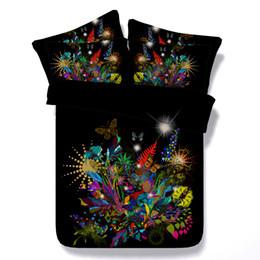 3D galaxy Bettbezug bettwäsche-sets queen floral Tagesdecken Urlaub Quilt Covers Bettwäsche Kissenbezüge schmetterling rose gelb blau rot von Fabrikanten