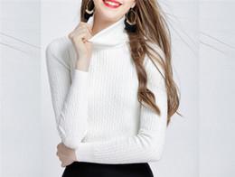 Invierno cálido mujeres suéteres y jerseys alto elástico grueso suéter de  cuello alto otoño de punto trenzado suéter Jumper mujeres FS5953 rebajas jersey  de ... add9634b60ee