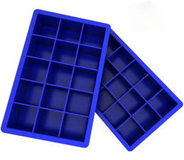Wholesale Silicone Cakes - Silicone Ice Cube Tray Molds Candy Mold Cake Mold Chocolate Mold 15 Cavity
