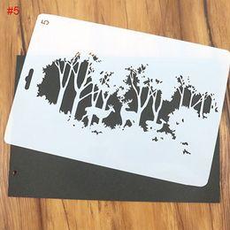 10 pz / set albero di natale fai da te e cervi modello pittura modello proiettile journal stencil set goffratura carta scrapbooking carte fai da te da cervo albero di natale fornitori