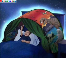 Wholesale Kids Foldable Play Tent - 2017 Newest Style Kids Dream Tents with led lamp Luminous Cartoon Foldable Tent Outdoor Tents Baby Play Sleeping paradise Tent