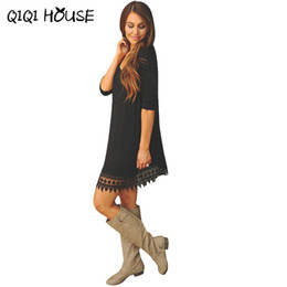 Wholesale Cheap China Wholesale Dresses - Cheap Clothes China 2018 Autumn Winter dress Women casual dress fashion clothes china vestidos algodon casua Gift