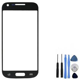 Новая замена ЖК-дисплей передняя панель сенсорного экрана внешний стеклянный объектив для Samsung Galaxy S4 Mini i9190 i9195 i9192 от