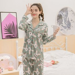 75eef33647 girls striped pyjamas 2019 - WAVMIT Autumn Cotton Women Striped Pyjamas  Sweet Girl Sleepwear Loungewear Femmel