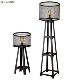 Wholesale Tripod Stand Lamps - JW_Nordic Tripod Black Vintage Tower Standing Industrial Floor Lamps Lights for Dining Room Foyer Study Bedroom Deco Loft Cafe