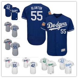 Wholesale la dodgers - custom Men's women youth Majestic LA Dodgers Jersey #42 Jackie Robinson 55 Joe Blanton Baseball Jerseys