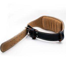 Cinturón de apoyo online-Hewolf Cintura Soporte Cinturón de levantamiento de pesas Gimnasio Cuero Cintura ajustable Soporte Cinturón Para Mujeres Hombres Entrenamiento de la aptitud