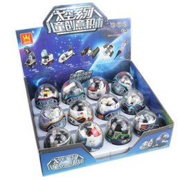 Wholesale diy assemble - Intelligence Toy Space Ship Series Gashapon Rocket DIY Assembling Learning And Education Gift Children Developmental Toys 4 88xd W