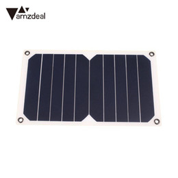 2019 tableros dc amzdeal DC 5V 5W Monocrystalline Resina epoxi Panel de energía solar Batería de carga Junta tableros dc baratos