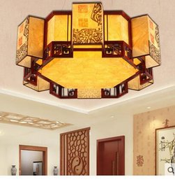 Wholesale Chinese Ceiling Lights - Chinese Style Retro Style Ceiling Light Modern Living Room Polygon Classic Creative Molding Lamp Bedroom Chandelier ZCL
