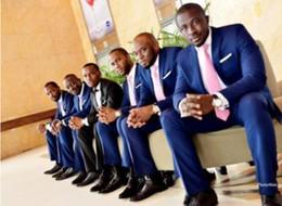 Wholesale Stylish Groom Vests - Simple and stylish men suits new arrival men's wedding tuxedos suits good quality groom best man prom dress suits (jacket+vest+pants)