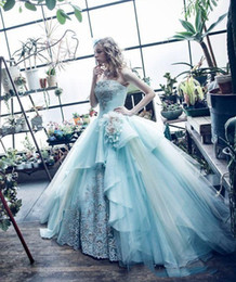 Wholesale Princess Specials - 2018 Mint Green Ball Gown Quinceanera Dresses Gowns Princess Crystal Prom Dress Sweet Ball Gowns Formal Special Occasion Evening Party Dress