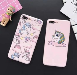 Wholesale Unicorns Case - 2018 mobile phone shell pink fantasy unicorn cartoon protective cover for iPhone6 7 8plus x
