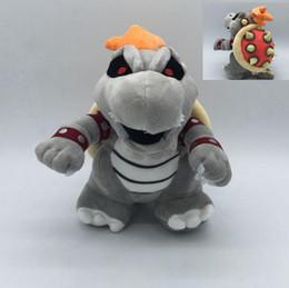 Wholesale Bones Video - Super Mario Bone Kubah Dragon Koopa Broswer Plush Toy Soft Stuffed Dolls Kuba dragon Plush Toy Bolster plush 25cm KKA4116