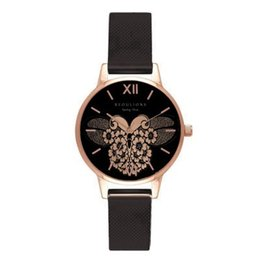 Wholesale Cartoon Blue Butterfly - designer luxury Butterfly Pattern Fashion Rhinestone Watch Women Cartoon Hand Clock Simple Leather Ladies Quartz Watch 2018 high quality