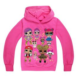 Chica encantadora con capucha online-Muchacha encantadora sudadera con capucha sudadera de dibujos animados lolita estilo de niña sudadera con capucha de algodón para 4-12 años niñas niños niños prendas de vestir exteriores suave ropa