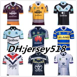 Wholesale brown black white - 2018 nrl jerseys rugby league Storm BRONCOS Cowboys KNIGHTS Eels Roosters rugby jerseys New South Wales Blues State Melbourne jerseys S-3XL
