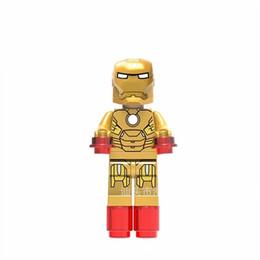 Wholesale best artificial - Super Heroes Comic Artificial Ornament Minifig Mix Lot Garage Kit Mini Building Blocks Best Gift For Children 2 5fd W