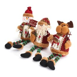 Wholesale Wholesale Snowing Xmas Tree - Wholesale-Hot Sale High Quality Santa Claus Snow Man Reindeer Doll Christmas Decoration Xmas Tree Hanging Ornaments Pendant Best Gift
