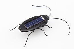 Argentina Energía Solar Energy Cockroach 6 Piernas Negro Niños Insect Bug Teaching Diversión Gadget Toy Gift Calidad superior cheap insect legs Suministro