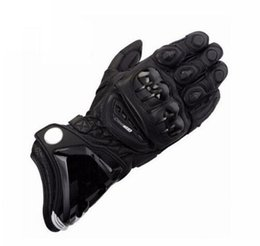 guantes de carretera Rebajas 3 colores GP Pro Leather Black de Moto Heaven Guantes de cuero para moto Road Bike Racing Riding Track