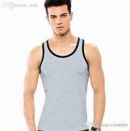 928da99226bf Wholesale-Mens Vest Gym Undershirt Top Wear Basebal Tank Tops Coat Up Sport  Sexy Sleeveless Bodybuilding Vest